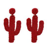 ingrosso perline acriliche-Orecchini pendenti in acrilico con perline di cactus per le donne Orecchini a forma di perline fatti a mano con frutta tropicale in rilievo Gioielli da spiaggia carini