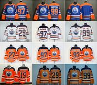 85dea5cb0 2018 season 97 Connor McDavid 99 Wayne Gretzky 44 Zack Kassian 27 Milan  Lucic 29 Leon Draisaitl Nugent-Hopkins Edmonton Oilers Hockey Jersey