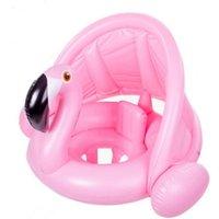 weißer schwanring großhandel-Sommer Baby Kinder Aufblasbare Ring für Schwimmen Sitz Float Aufblasbare Rose Gold Flamingo Pool Float White Swan Schwimmbad Spielzeug