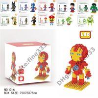 Wholesale spiderman figures building block for sale - Group buy Iron Man Blocks The Avengers Diamond Iron Man Hulk Spiderman Superman Mario Building blocks Figures Building Blocks Kid Toys