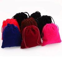 jóias sacos de veludo logo venda por atacado-100 pcs / set Custom Logo Tamanho cordão Impresso Bolsa saco de veludo Para Jóias Bag Z9 -R1