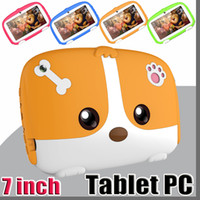 Wholesale kids tablet online - 2019 NEW Kids Brand Tablet PC quot inch Quad Core children Cute cartoon dog tablet Android Allwinner A33 google player MB RAM GB ROM