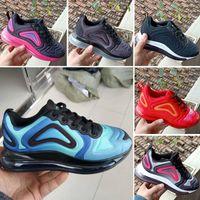 zapatos de bowling para hombres de moda al por mayor-Nike Air Max 720 Niños Niño y niña Azul Rojo Negro Gris Deportes 72o Zapatos Bebé de alta calidad Niños Diseñadores de moda hombres mujeres Zapatillas de deporte Zapatos de bowling