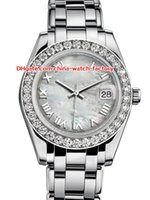 женские часы оптовых-12 Стиль Топ Продаж Высокого Качества 31 мм 36 мм Pearlmaster Datejust 81299 Бриллиантовая Рамка Азии Механические Автоматические Женские Часы женские Часы