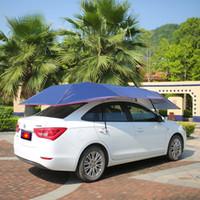 nylon sonnenschirme großhandel-Wnnideo Auto Dachzelt Baldachin Sonnenschutz Autos Regenschirm für Autos SUV Mini Beach Motors ZF6-2410