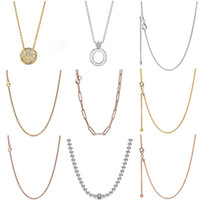 Wholesale sterling silver snake chain long resale online - FAHMI Sterling Silver Autumn Preview Shine Curb Chain Necklace Rose Long Link Cable Chain Necklace Oak Leaf Crown