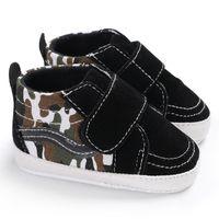 bebé suave suela de zapatos deportivos al por mayor-Moda High Top Sports Sneakers Newborn Baby Girls Boys Shoes Mix Soft Sole First Walker Infant Toddler Classic Cuna Prewalker