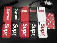 ingrosso casi di cellulare di alta qualità-Cassa di lusso del telefono di marca di modo per iphonex iphone 8 8plus 7 6s più la copertura posteriore del cellulare di alta qualità famosa