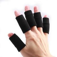 luvas de apoio dedo venda por atacado-Luvas 10PCS Sports Protective engrenagem da guarda Apoio Wraps Basquetebol Voleibol Futebol Dedo Stall Sleeve Protector de Proteção