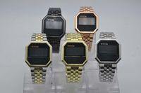 Wholesale shape electronics resale online - Luxury digital electronic watch Casual fashion LED quartz unisex watch Cold light square folding buckle relojes para hombre de lujo