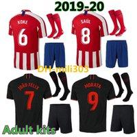 camisas de futebol personalizadas venda por atacado-19 20 JOÃO FÉLIX Atletico de Madrid Camisas de Futebol 2019 2020 LLORENTE MORATA camisa de futebol camisa de futebol futebol jerseys kits
