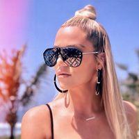 Wholesale frames len resale online - Big Frame Sun Glasses Men Mirror Sunglasses Women Black Len Goggles Gafas Sunglass Oculos Lentes De Sol Mujer Accessory