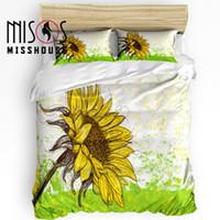 Wholesale cotton sunflower bedding sets for sale - Group buy MISSHOUSE Bedding Sets Sunflower Yellow Home Textile Duvet Cover Set Comforter Cover Pillowcases