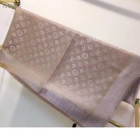 Wholesale square silk scarves for women for sale - Group buy Designer Fashion Scarves for Women wool silk silver thread Scarf Female x140cm square Shawl Bandana for Large Scarfs For Ladies without b