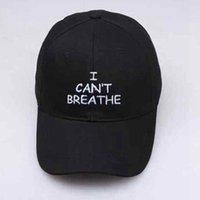 Wholesale party hat resale online - I Can t Breathe Cap Letter Printing Embroidered Baseball Cap Outdoor Summer Snapbacks Sports Adjustable Party Hat ZZA2238