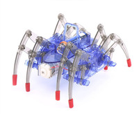 ingrosso giocattolo di ragno diy-Giocattoli robot ragno Fai da te Assemblare Intelligente giocattolo robot elettrico Giocattoli educativi per bambini Kit fai da te Assemblaggio Costruzione Puzzle Giocattoli Regalo L