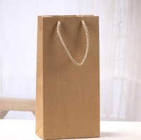 Wholesale wine gift boxes packaging for sale - Group buy Kraft Paper Red Wine Bag Single And Double Gift Packaging Wines Box Handbags Easy To Carry