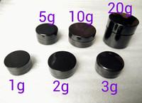 ingrosso vaso di campioni-3gram Cosmetic campione vuoto vaso di plastica rotonda pentola nera Vite Coperchio, Piccolo piccola bottiglia 3g, per il make up, ombretti, chiodi, polvere, Vernice