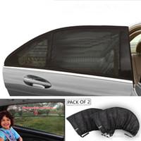 araba güneş gölgelik örgü toptan satış-Araba-Styling Araba Güneş Gölge Pencere Kapak Güneşlik Perde UV Koruma Kalkanı Visor Mesh Toz Araba Pencere Mesh Sıcak satış