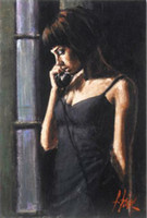 Wholesale panel phone resale online - quot THE PHONE CALL quot by FABIAN PEREZ HOT SPICY Home Decor Handpainted HD Print Oil Paintings On Canvas Wall Art Pictures