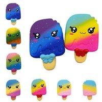 детские игрушки для мальчиков оптовых-Модные детские декомпрессионные игрушки симулятор мороженого игрушки горячие продажи детей радуга медленный отскок игрушки T9I0037