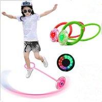 флеш игры оптовых-Детские Игрушки LED Flash Прыжки Кольцо Танцующий Мяч Светящийся Фитнес Развивающие Игрушки Смешные Игры Творческие Дети Спорт На Открытом Воздухе Игрушки TL105