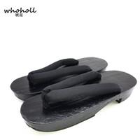 ingrosso sandali giapponesi di geta-WHOHOLL Geta Sandali estivi donne piattaforma piatta giapponese scarpe di legno zoccoli infradito per donna solido stupro cos costumi scarpe