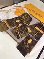 pañuelos de pañuelo al por mayor-2019 la más nueva moda de la venda bufandas para las mujeres estampado floral bufanda de seda de satén hembra 120x8cm largo pañuelo cabeza bufandas para damas RT17b
