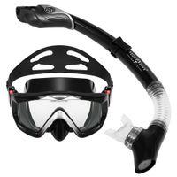 Wholesale spearfishing equipment resale online - Three window Snorkeling Scuba Diving Mask Anti fog Snorkel Goggles Swimming Mask Spearfishing Glasses Underwater Dive Equipment