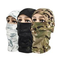 Wholesale wargame mask for sale - Group buy Multicam CP Camouflage Balaclava Full Face Mask Wargame Cycling Hunting Army Bike Helmet Liner Tactical Cap