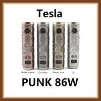 vape classic venda por atacado-Tesla Punk 86 W Mod Mech Clássico Teslacigs Estilo Punk Compitível com Único 18650 Bateria Mod Vape 100% Original