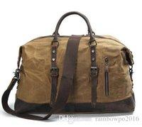 bolso de lona al por mayor-La marea de la bolsa impermeable que restaura las maneras antiguas es de lona de alta calidad.