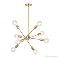 8 Lights Modern Sputnik Chandelier Lighting With Adjustable Arms Mid Century Pendant Light Vintage Industrial Farmhouse Ceiling Light