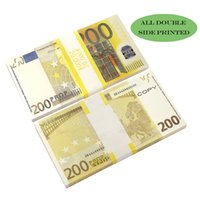 Paper Printed Money Party Games Toys USA 1 5 10 20 50 100 Dollar Euro Movie Prop Banknote For Kids Christmas Gifts Or Video Film