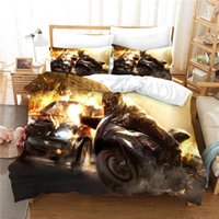 Wholesale 3d bedding sets cars for sale - Group buy 3D car duvet cover set queen size luxury bedding set with pillowcase bedclothes twin bed home textile bed line