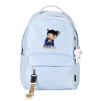 impressão japonesa venda por atacado-Japonesa do detetive dos desenhos animados Conan Printing Backpack Kaitou Kiddo Cosplay School Bolsas Mulheres Rosa mochila de lona Viagem