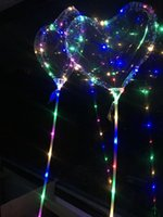 Wholesale gifts balloons for christmas for sale - Group buy 2019 LED Love Heart Bobo Ball Valentine s Day Gifts Led Luminous Light Up Balloon Transparent Air Balloon For Wedding Party Home Decoration