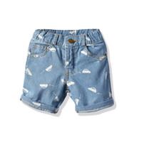 pantalones cortos chicas verde al por mayor-Pantalones cortos de jeans para bebés pantalones cortos de playa de verano Ropa de abajo mini para pantalones de niña tejido de algodón Hecho en China por mayor pantalones cortos verdes BY1055