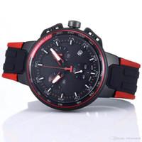 ingrosso ha portato i disegni degli orologi-Design unico uomini orologio analogico da polso Outdoor Cronografo Mens quarzo buone prestazioni con Red Anello rotondo