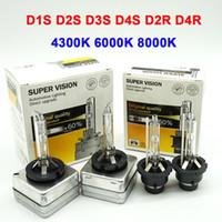 Wholesale hid 12v headlamps resale online - 1 pair D1S D2S D3S D4S HID Xenon Bulb D2R D4R Xenon Lamp K k k High Low Hid Headlight Headlamp V W White