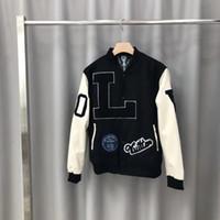 chaquetas de moda de los hombres de china al por mayor-2019 otoño nuevo diseñador para hombre bordado decoración chaqueta CHINO TAMAÑO chaquetas ~ nuevo diseñador de moda chaquetas de buena calidad para hombres