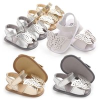Wholesale cute infant girls shoes for sale - Cute Infant Baby Butterfly Sandals Girls Summer Sandals Newborn Baby Princess Soft Sole Prewalkers First Walker Shoes