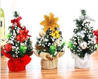 ingrosso giocattoli decorativi per ufficio-Buon albero di Natale Camera da letto Decorazione scrivania Giocattolo bambola regalo Ufficio Casa Bambini Natale Ingrosso Decorazioni natalizie per la casa