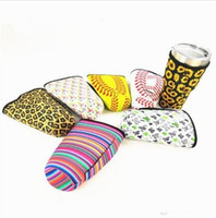 Fashion Leopard Print Rainbow Cactus Water Bottle Cover Neoprene Insulated Sleeve bag Case Pouch for 30oz Tumbler Cup
