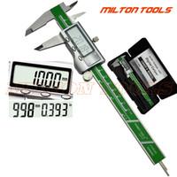 kalınlık kaliper toptan satış-Endüstriyel Seviye Dijital Kumpas 0-150mm 0.01 Paslanmaz Çelik Elektronik Sürmeli Kaliperleri Kalınlığı Mikrometre T8190619