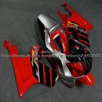 honda rc51 motosiklet parkurları toptan satış-23 renkler + Vidalar kırmızı gümüş siyah motosiklet gövde Için Honda VTR1000SP1 2002 2003 2004 2005 2006 RC51 ABS plastik motor Fairing kiti