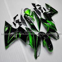 ingrosso zx14 carenatura nero-23colors + 5Gifts carenatura moto verde nero per Kawasaki 650R ER6F 2009-2011 2010 ER 6f 09 11 650 R kit plastica ABS
