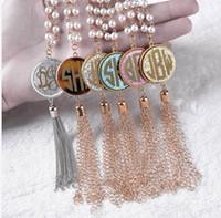 quaste großhandel-Großhandel Frauen lange Schichtung Quaste Anhänger Necklacewomen lange Schichtung Quaste Halskette Perle Quaste Anhänger Halskette Kostenlose Lieferung nach Hause