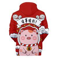 ingrosso temi cornici-Fashion Hoodies Pig tema 3D Digital Jacket full-frame stampa cose carine liscio Felpe con cappuccio Sweaterahirt uomo e donna coppia inverno