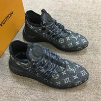 Wholesale mens wedding sneakers for sale - Group buy Fastlane Sneaker Denim Monogram Mans Lace Up Sneakers Fashion Mens Trainers Designer Outdoor Casual Mountain Climbing Shoes